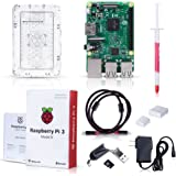 Raspberry Pi 3 Model B Kit with Clear Case, Power Supply, Heatsink, 32GB SD Card, HDMI Cable