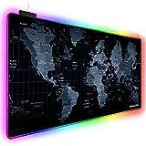 Mouse pad RGB estendido para jogos, tapete para jogos extra grande para gamer, tapete de mesa de escritório à prova d'água co