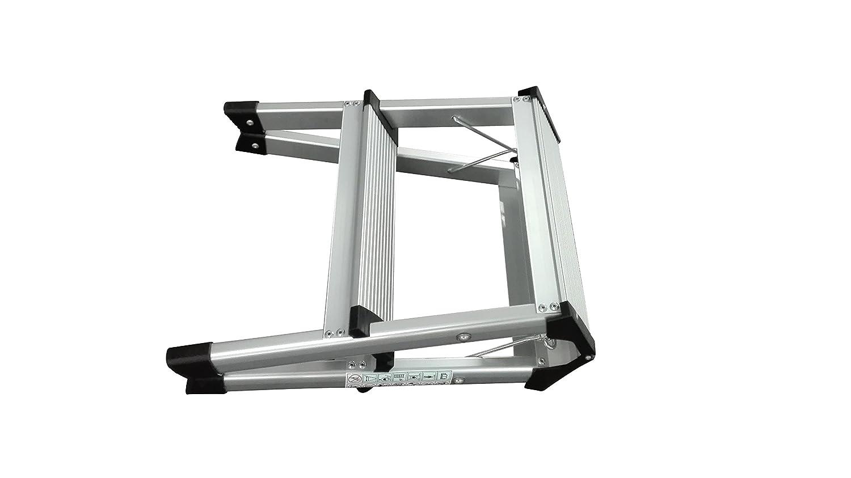 1PLUS Aluminium Tritthocker Tritt Leiter Trittleiter Klapptritt bis 150 kg belastbar 2 x 2 Stufen