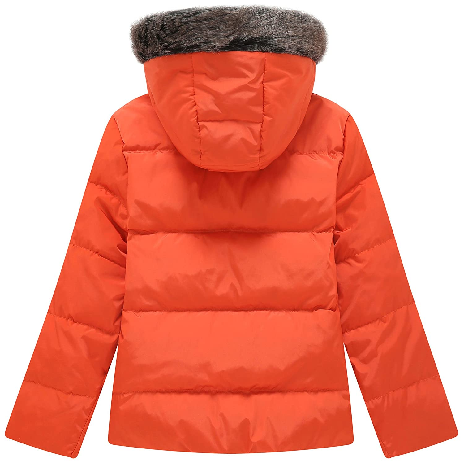 751106dd54aec Amazon.com  Wantdo Girl s Lightweight Down Jacket with Faux Fur Collar  Hooded Puffer Winter Coat  Clothing