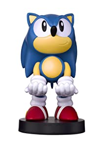 Collectible Sonic the Hedgehog Cable Guy Device Holder - works with PlayStation and Xbox controllers and all Smartphones -Classic Sonic - Not Machine Specific
