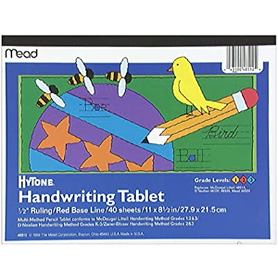 "Mead Hytone Handwriting Tablet for Grades 1-2-3, 11X8 1/2"" - 1 Pkg: Toys & Games"