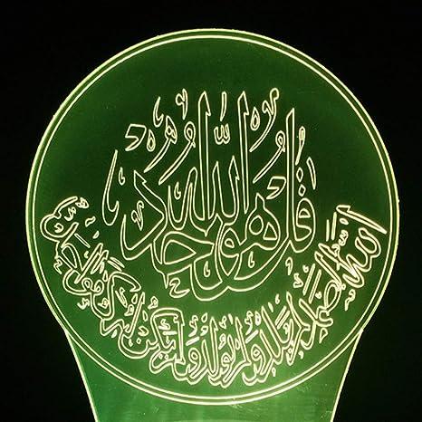 Nightlight Le Led Starry Islamique Sky3D Qaq 7 Allah Coran wk08nOP