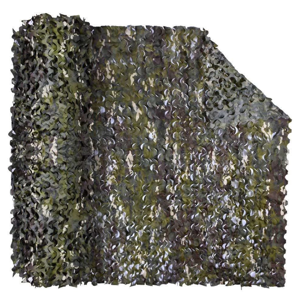 Vert 6x8m YANGJUN-Filet De Camouflage Crème Solaire Poids Léger Durable Anti-UV Jungle Camouflage Tissu Oxford De Plein Air Personnalisable Plusieurs Tailles (Couleur   Vert, Taille   3x6m)