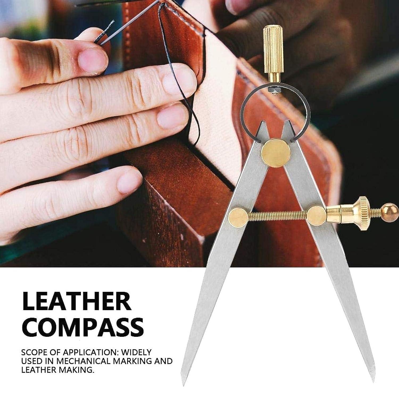 Br/újulas de Cuero Divisor de Cuero Rasgu/ño Giratorio Leathercraft Br/újula Herramientas de Costura DIY 100 mm
