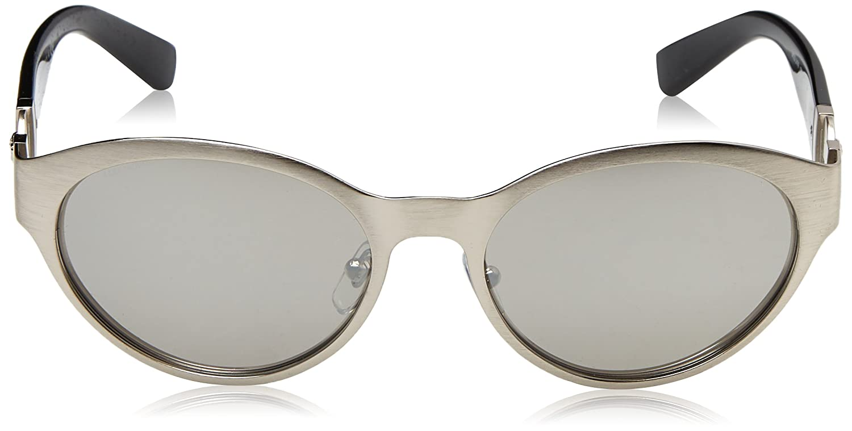 Womens 0VE2179 12666G Sunglasses, Brushed Silver/Lightgreymirrorsilver, 55 Versace
