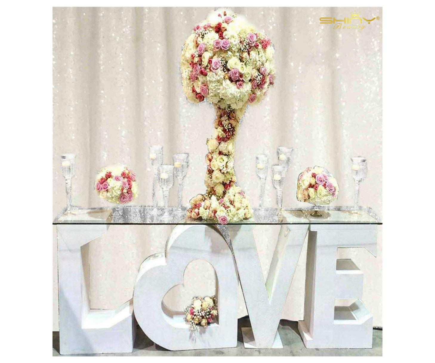 8 X 8, Ready to Dispatch,White Sequin Backdrops,White Sequin Photo Booth Backdrop, Party Backdrops,Wedding Backdrops, Sparkling Photography Prop