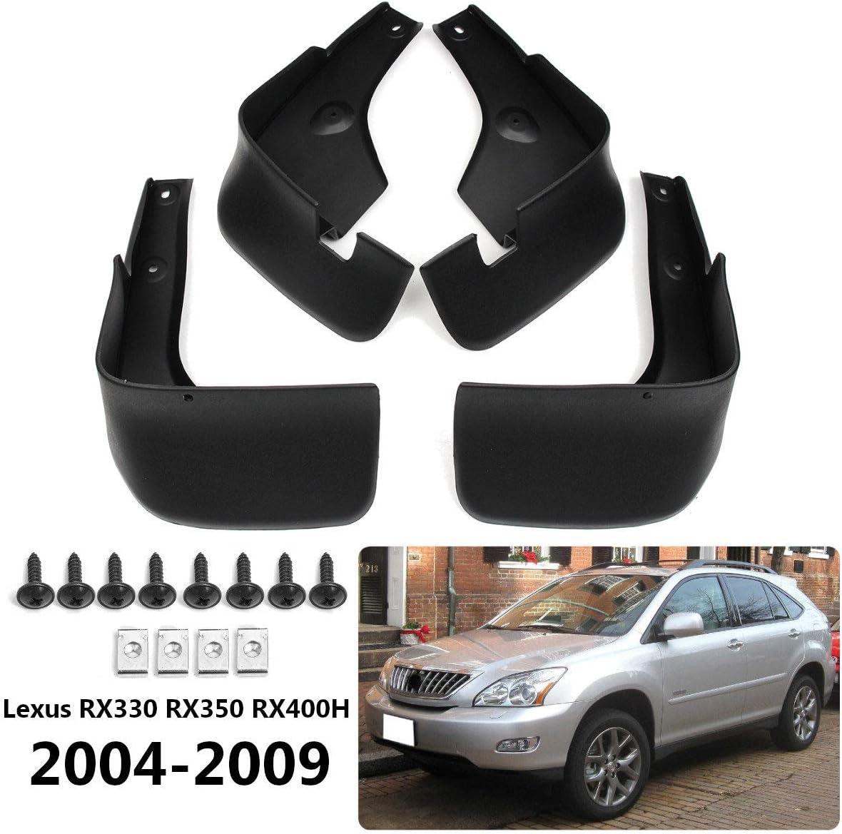 BTSDLXX 4 Pcs Set Auto Kotfl/ügel f/ür Lexus RX330 RX350 RX400H 2004-2009 Vorne Hinten Kotfl/ügelverbreiterungen Spritzschutz Gummi Schmutzf/änger Autozubeh/ör