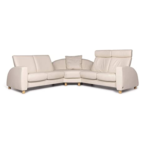 Stressless Designer Leather Corner Sofa Cream Couch Function ...