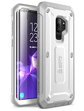 SUPCASE Unicorn Beetle Pro Full Body Rugged Case, Carcasa de cuerpo completo con protector de pantalla integrado para Galaxy S9 Plus (2018), Blanco