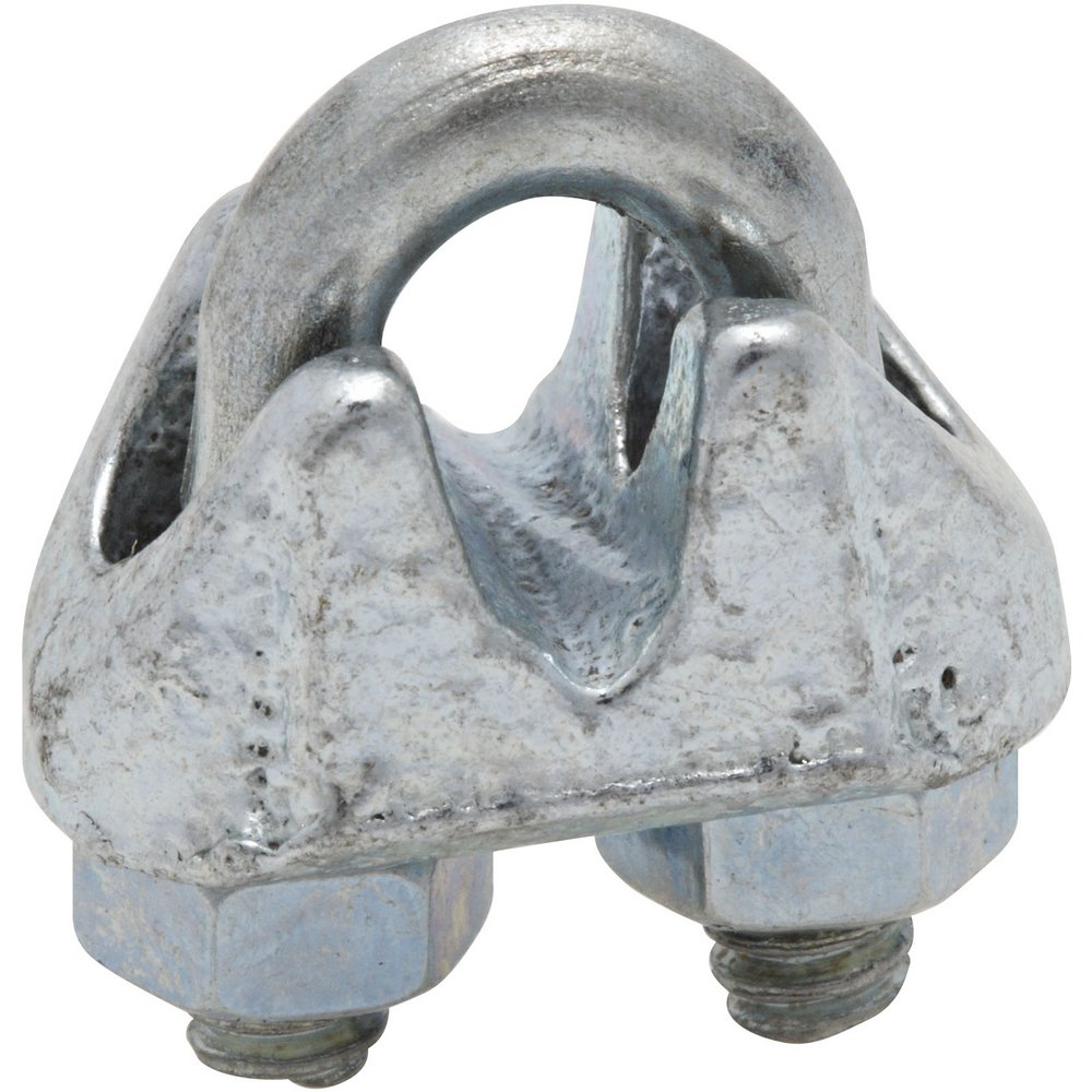 National Hardware N186-643 3230 Wire Cable Clamps in Zinc, 1/8'  , 3 piece 1/8