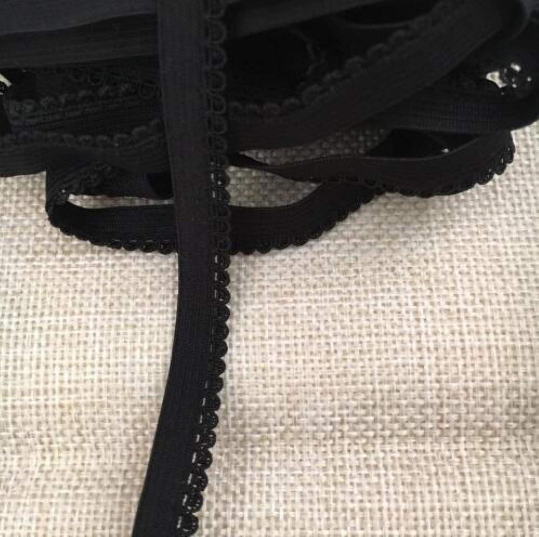 20 Metros De Estiramiento El/ástico Negro Cinta De Encaje Fino Costura De Encaje para Coser Ropa Interior Accesorios Artesanales De Bricolaje 9 Mm Blanco