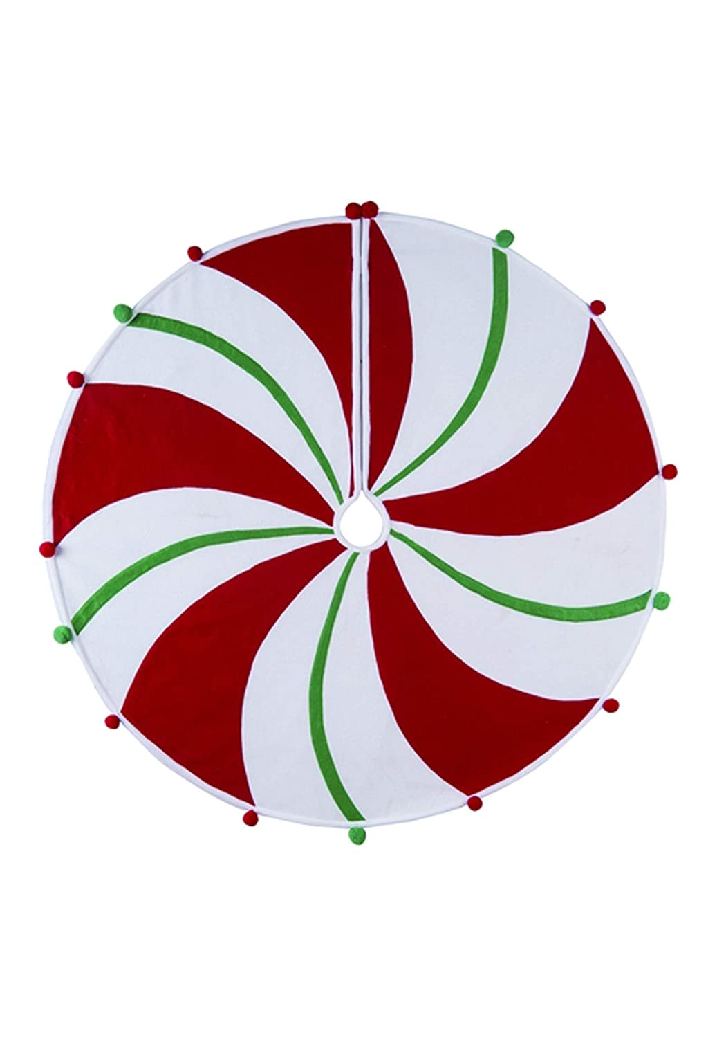Felt Peppermint Tree Skirt Standard TII Y2085