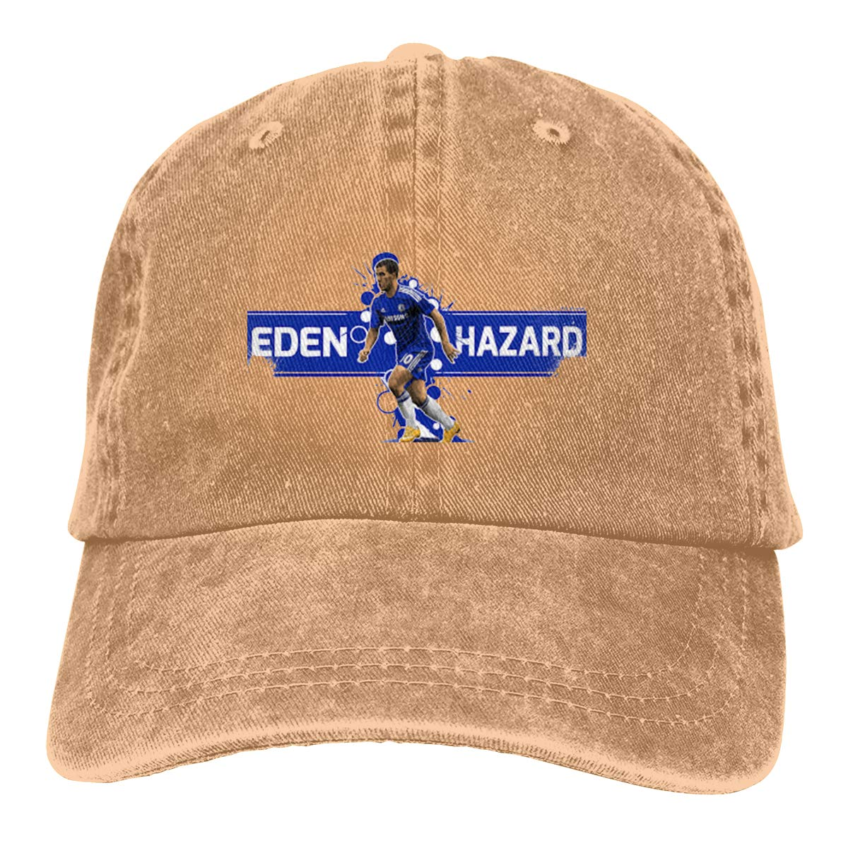 DeniCar Unisex Adjustable Baseball Caps Soccer-Eden-Hazard-Star Cowboy Skull Cap