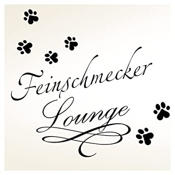 Wandaro W3334 Wandtattoo Feinschmecker Lounge I Schwarz Bxh 40 X
