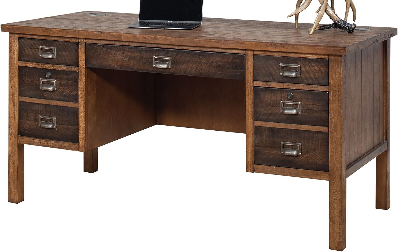 Martin Furniture Heritage Half Pedestal Desk