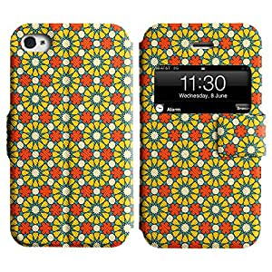 LEOCASE flor linda Funda Carcasa Cuero Tapa Case Para Apple iPhone 4 / 4S No.1004612