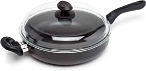 Ecolution EABK-9628 Chicken Fryer with High Dome Glass Lid, Aluminum, 3.75 Quarts