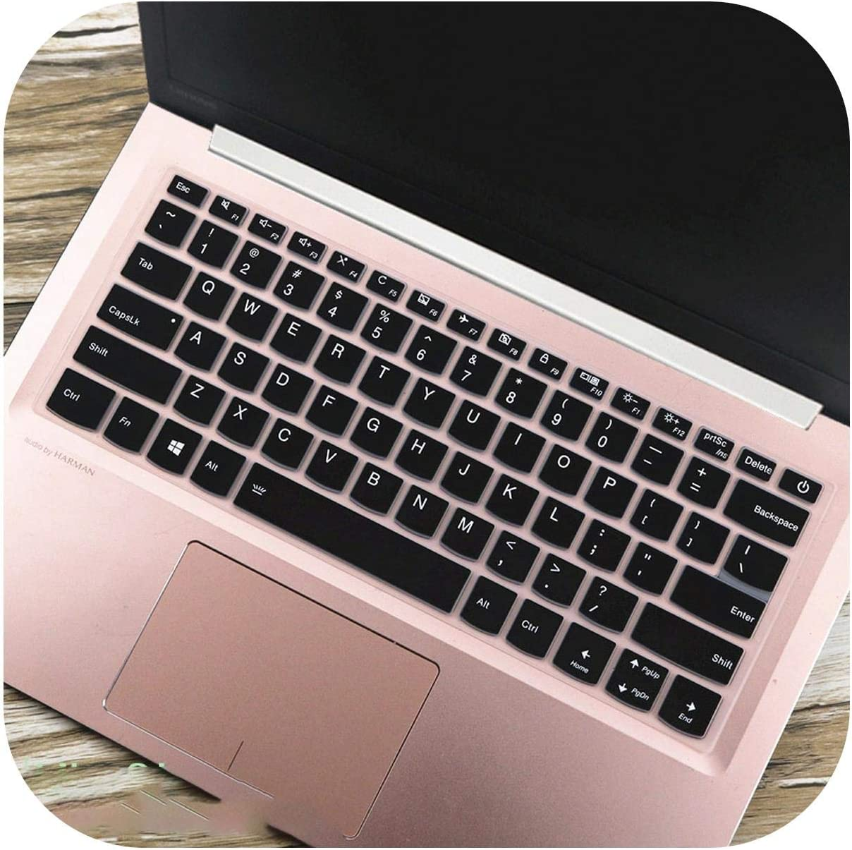 Laptop Notebook Keyboard Cover Skin for Lenovo Yoga 730S 720 720S 13 730 13Ikb 520S 14 Flex 6 14Ikb Ideapad 720S 13 13.3 Inch-Black