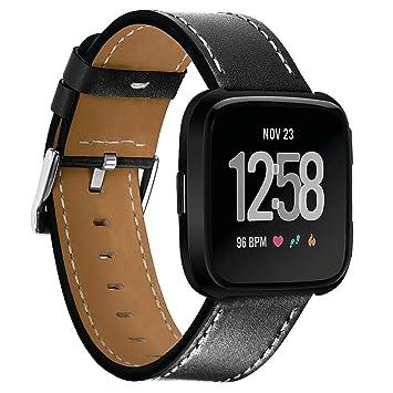 Gaddrt Bande de remplacement pour Fitbit versa, nouvelle montre bracelet en cuir de luxe (
