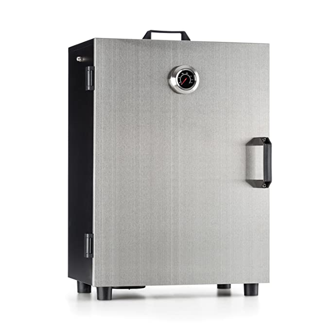 1 opinioni per Klarstein Flintstone Steel • Forno Affumicatore Elettrico • 800 W • 3 Griglie di