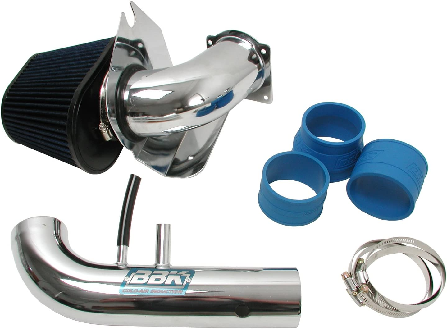 BBK 1718 Chrome Fenderwell Cold Air Induction Intake System for Ford Mustang GT 4.6L 2V
