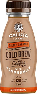 product image for Califia Farms Salted Caramel Cold Brew Coffee with Almondmilk, 10.5 Fl oz