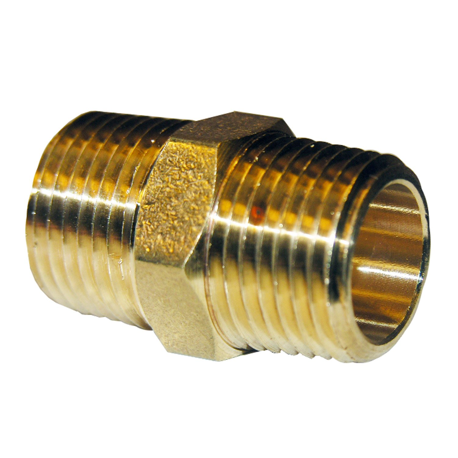 LASCO 17 8669 3 4 Inch Male Pipe Thread Brass Hex Nipple