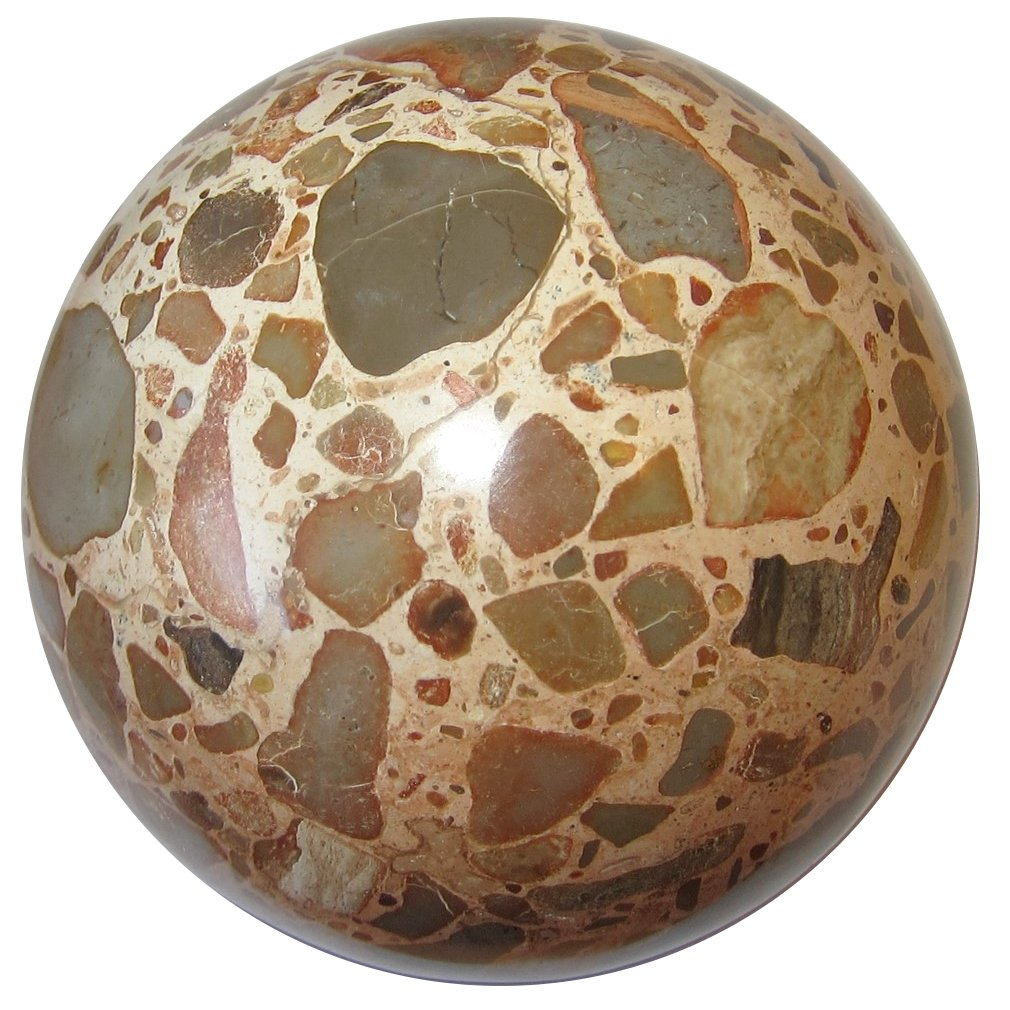 Jasper Safari Ball 3.1'' Collectible Peach Brown Gray Earth Mosaic Sphere Unique Crystal Healing Stone, Exact One C01 by SatinCrystals