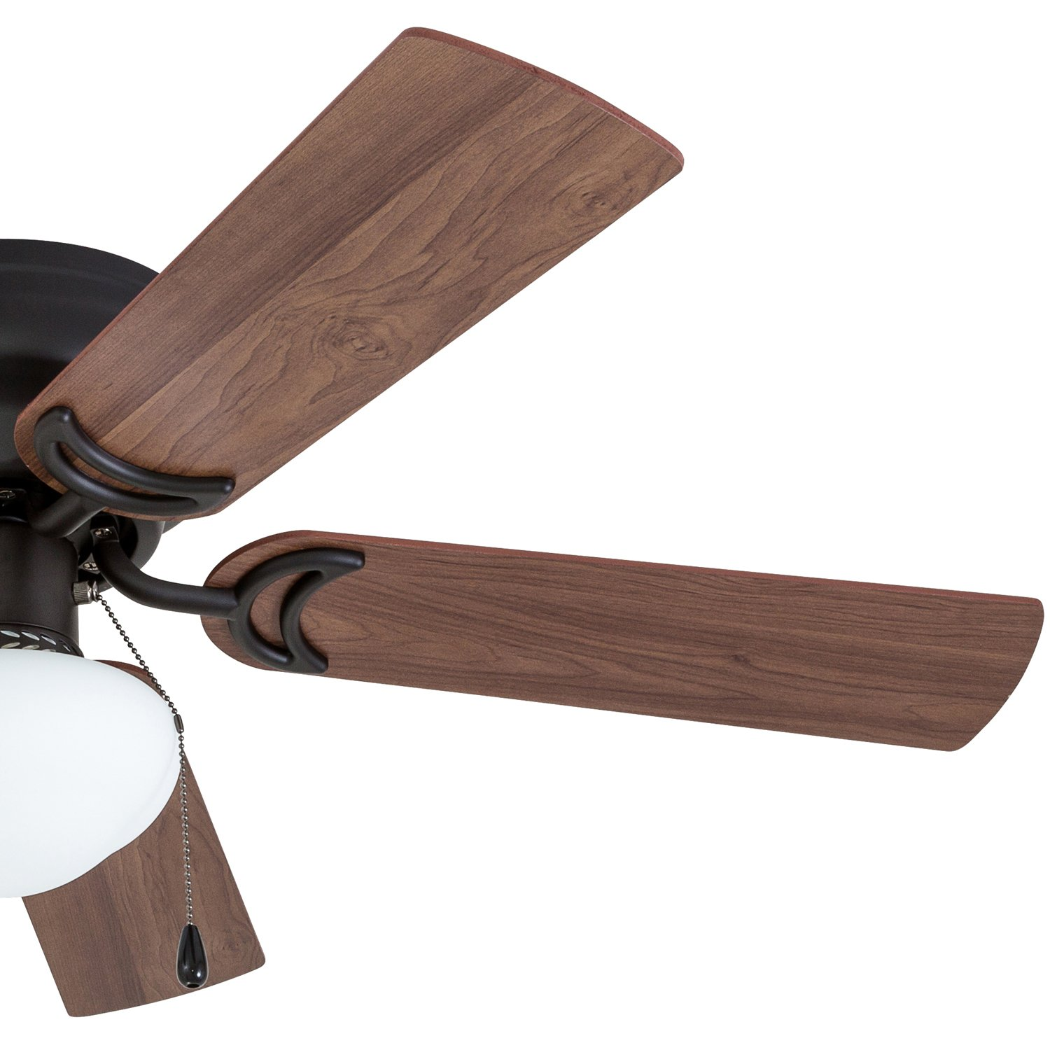 Prominence Home 50860 Alvina LED Globe Light Hugger/Low Profile Ceiling Fan, 42 inches, Bronze by Prominence Home (Image #3)