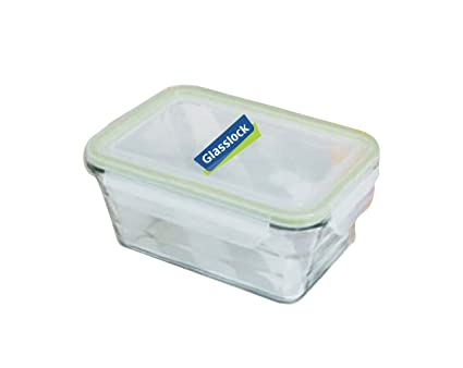 Glass Lock Streamlined Rectangle Container, 1.65 litres Jars & Containers at amazon