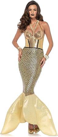 Leg Avenue para disfraz de mujer Golden Glimmer Mermaid sirena ...