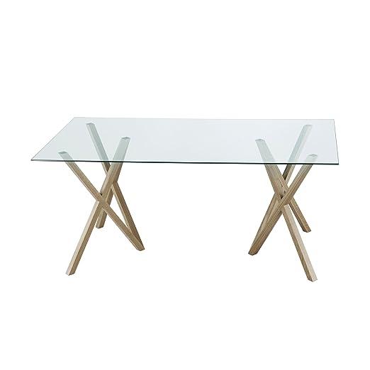 Mika tablero de la mesa cuadrada de vidrio templado de-cristal ...
