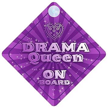 Amazon.com: Drama Queen On Board coche Señal nuevo bebé/niño ...
