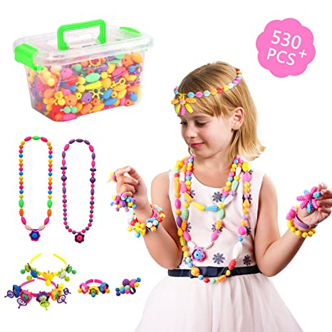 Amazon Com Pop Snap Beads Beauty Crafts Toys Jewelry Making Kit