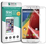 Moto G2 Tempered Glass Screen Guard Protector Ultra Strong (9H)-Slim by Skin4Gadgets with Gift Card of Rs.200.