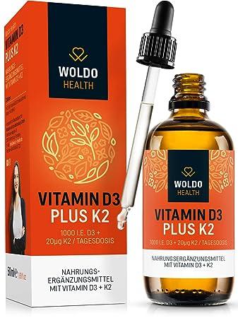 wiele kolorów całkowicie stylowy szeroki zasięg Vitamin D3 + K2 Tropfen 50ml 99,7% All-Trans K2VITAL von Kappa