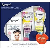Bioré Face Care Brightening Gift Set (3 Pack) Jelly Cleanser, Exfoliator, 8ct Original Pore Strips and Bonus Facial…