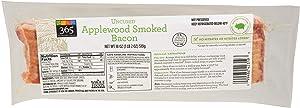 365 Everyday Value, Uncured Applewood Smoked Bacon, 18 oz
