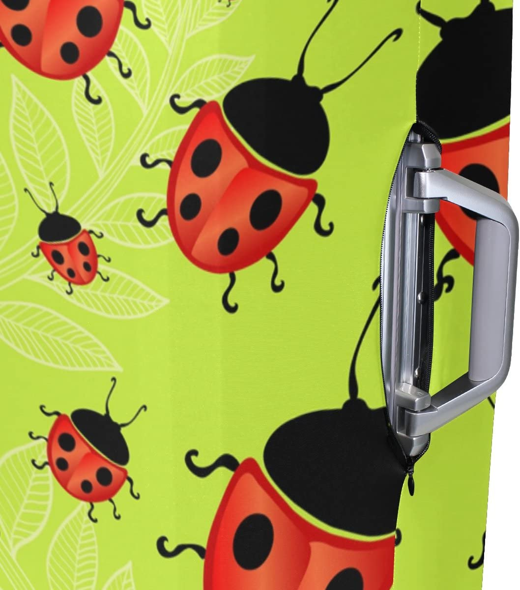 Luggage Protective Covers with Red Ladybug Washable Travel Luggage Cover 18-32 Inch