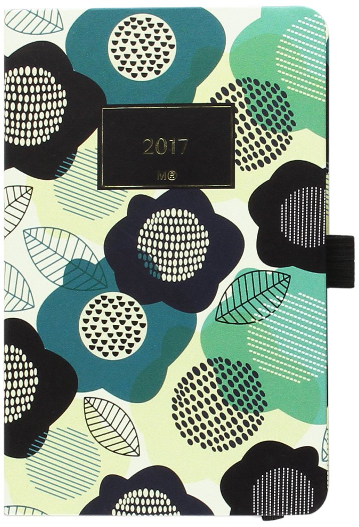 Miquelrius 31065 - Agenda anual cosida, 90 x 140 mm, semana vista floral nórdico