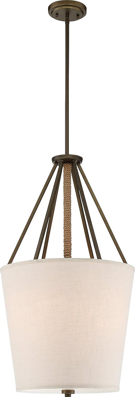 Nuvo Lighting Nuvo 60//5844 Three Light Pendant Natural Brass