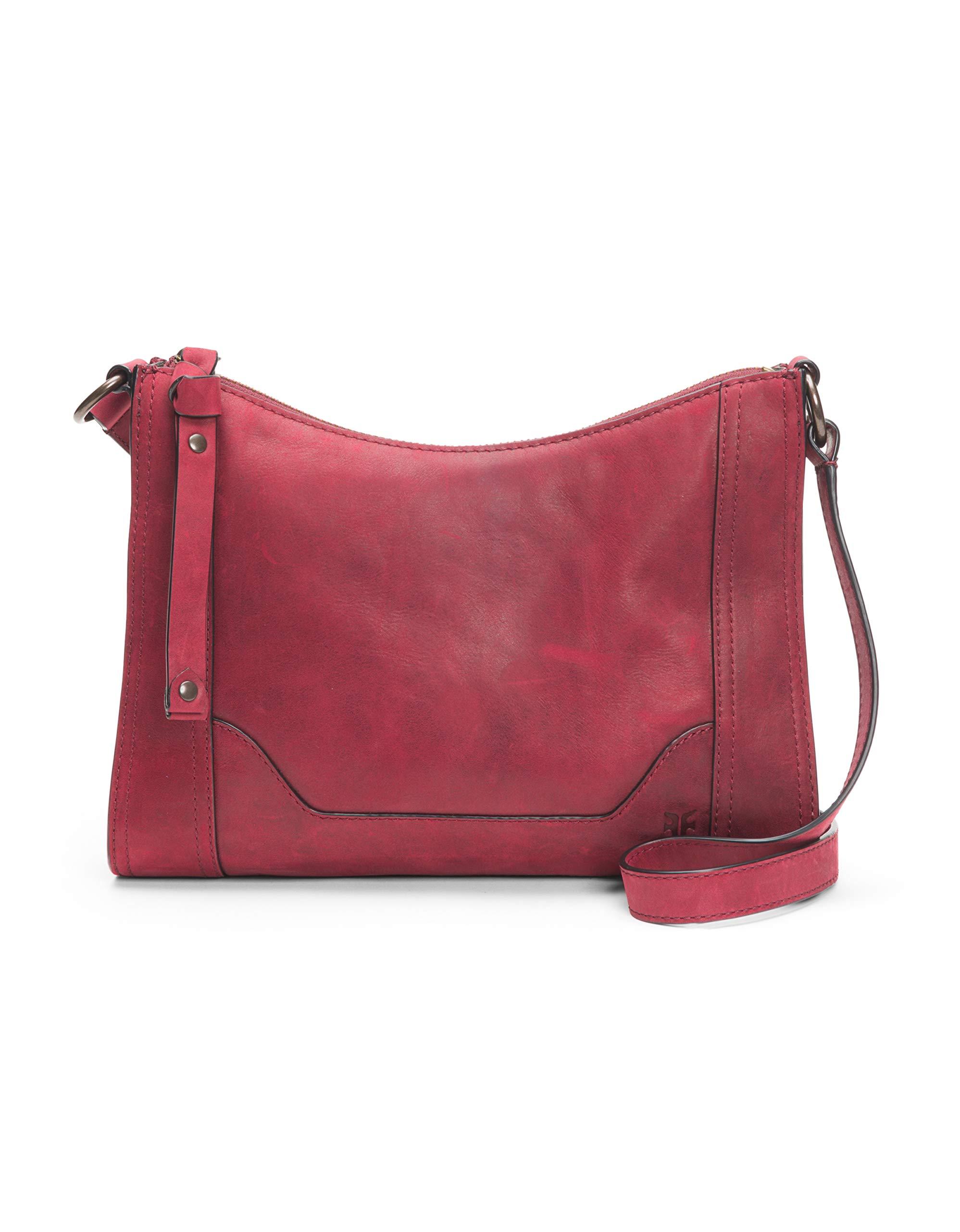 FRYE Melissa Zip Leather Crossbody Bag, sangria