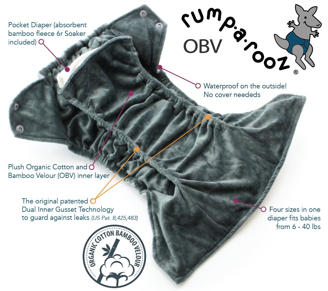 Atlantis Kanga Care Rumparooz On-Balance Volume One-Size Cloth Diaper Snap