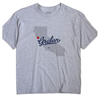 Graton California Map.Amazon Com Greatcitees Graton California Ca Map Unisex Souvenir T