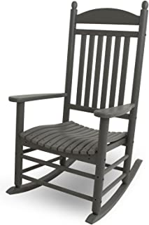 product image for POLYWOOD J147GY Jefferson Rocking Chair Rocker, Slate Grey