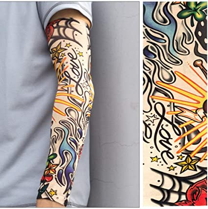 WFire Hombres y mujeres tatuajes mangas tatuaje seda hielo ...