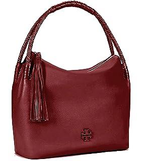 346fc6a62 Tory Burch Taylor Women s Hobo Leather Handbag 52700 (Imperial Garnet)