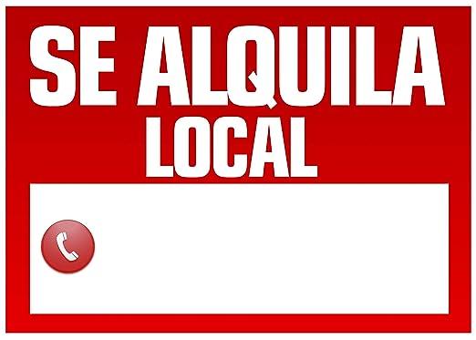 Wayshop | Cartel Se Alquila Local | Medidas 50cm x 70cm ...