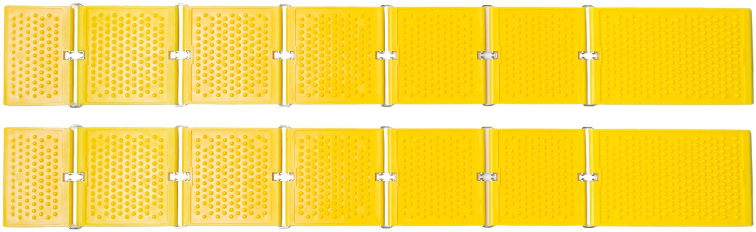 Reusable Revolution TN-1158709 Tire Traction Mats and Chock, Emergency Traction Pad, Yellow
